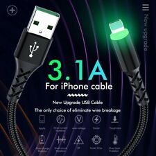 3.1 A Iphone fast charger cable With Light
