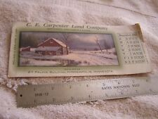 1911 Calendar December C. E. Carpenter Land Co. Minnesota