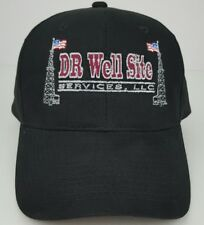 Dr Well Site Services Pipeline Rigging American Flags Black One Size Adult Hat