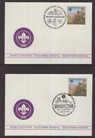 Austria 1990 Scouting postcards x 2 (blank on reverse)