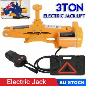 3Ton Automotive Electric Scissor Jack Lift 3T 12V DC Remote Hoist SUV Van Car AU