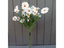 4 x Artificial Daisy Sprays - 65cm White Daisies Artificial Flowers Bunch