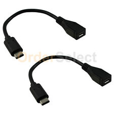 2X USB Type C Male to Micro USB Female Converter Charger Adapter Cord Black HOT