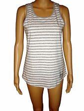 Michael Kors Women's Tank Top Gray & White Stripe Studded MK Logo NWT $59.50 Sml