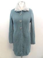 Julia Garnett Long Wool Mix Cardigan Blue / Grey Size ITA 46 / UK 14 BOX73 13 C