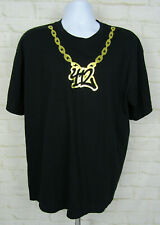 Pittsburgh PA 412 Gold Chain Shirt Sz XL Graphic Logo Gilden Dope Custom Local