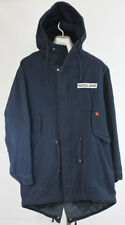 Nautica Jeans CO Size Medium Men's Jacket Hooded Hooded Blue Heavy