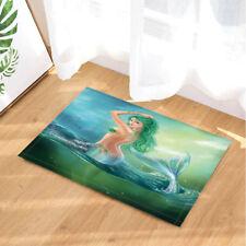 """Beauty Mermaid And Ocean Non Slip Rug Carpet Bedroom Bathroom Mat Doormat 16x24"""""""