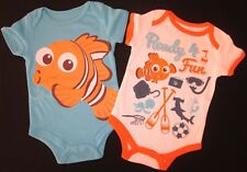 Baby Boys Nemo Romper 2 Set Disney Bodysuit One Piece Outfit Licensed Blue 0 NEW