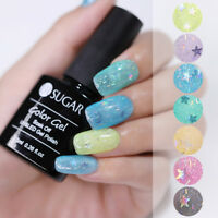 UR SUGAR Nail UV Gel Polish Star Sequins Soak Off Nail Art Gel Varnish 7.5ml