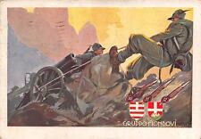 C3817) ALPINI, 1 REGGIMENTO ARTIGLIERIA DA MONTAGNA GRUPPO MONDOVI' VG NEL 1935.