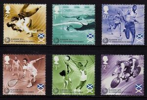 GB QEII MNH STAMP SET 2014 COMMONWEALTH GAMES GLASGOW SG 3619-3624 10% OFF 5+