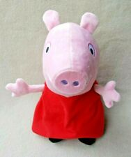 "Peppa Pig Talking Plush Stuffed Animal 12"" Hug N Oink Great Working Condition"