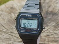 Digital Watch Classic Style All Black Skmei FREE DELIVERY