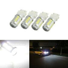 4PCS Pure White 3157 3156 3057 3047 33SMD 5730 Super Bright LED Bulbs for DRL