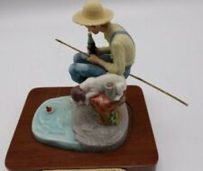 "Norman Rockwell Coca Cola commemorative edition Figurine 1985 ""Out Fishing"""