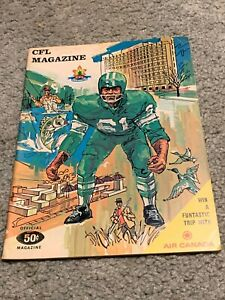 1968 Saskatchewan Roughriders v Winnipeg Blue Bombers CFL Football Program 10/23