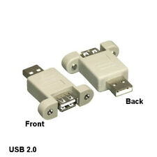 Kentek USB 2.0 Panel-Mount Type A PortSaver Adapter Male to Female PC Laptop HDD