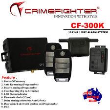 NEW CRIMEFIGHTER CF300K 1 Way Passive Keyless Entry CAR ALARM SYSTEM