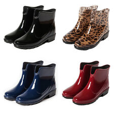 Women Fashion Ankle Rain Boots Snow Shoes Waterproof Antislip Wellies