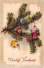 BG20008 vroolijk kerstfeest christmas  fir branch star santa claus  denmark