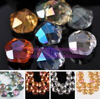 100PCS Crystal Glass Faceted Loose Spacer Beads lot 3mm 4mm 6mm DIY Jewelry