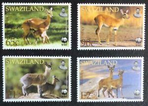 Swaziland - 2001 - WWF - Antelopes - Set & FDCs - Unmounted Mint.
