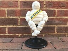 Michelin Man SAT ON STOOL Figure Chair Ornament Cast Iron Spins Vintage XMISI
