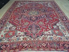 "VERY Large PERSIAN HERIZ  RUG hand made CARPET WOOL oriental 10ft 10"" x 8ft 6"""