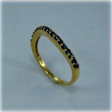 18ct Gold Wavy Sapphire Ring