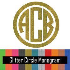 Glitter Circle Monogram Vinyl Decal Sticker for Yeti Tumbler iPhone Samsung