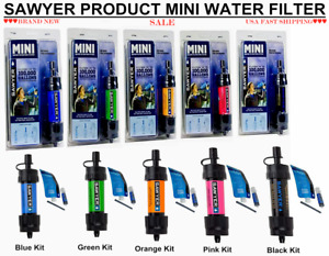 Sawyer Mini Water Filter Filtration System Blue / Orange / Green / Pink / Black