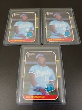 3 COUNT LOT 1987 DONRUSS RR BO JACKSON RC RATED ROOKIE ROYALS CARD # 35 SHARP!