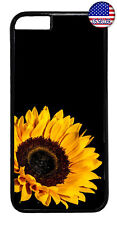 Sunflower Yellow Black Garden Case Cover For iPhone 11 Pro Max Xs XR 8 Plus 7