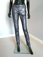 All Saints Estelle slim leg black silver foil jeans grunge sz. 27 BNWT