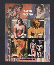 Art, paintings, Picasso , nude on stamps SAO TOME 2005 Very nice MNH