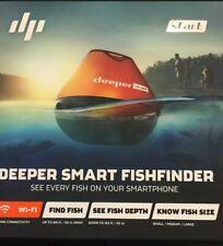 Deeper Smart Fishfinder Start, Wireless Wi-fi Enabled Fish Finder Open Box