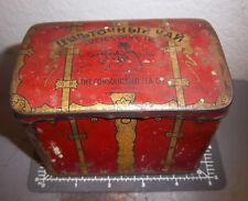 Vintage Zvetouchny tea tin, great colors & graphic, fun collectible tin