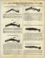 1932 PAPER AD Lefever Single Barrel Trap Shot Gun Long Range Remington NRA Targe