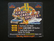 CLUB KENO 3 WAYS TO WIN CASH CARS CRUISES FORD LASER GL HATCH COASTER