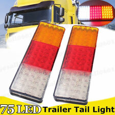 2x Tail Lights 75 LED Ute Trailer Stop Pickup Truck Boat Stop Reverse Indicator