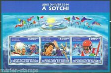 GUINEA   2013 SOCHI 2014 OLYMPIC ISSUE  SHEET MINT NH
