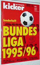 KICKER FUSSBALL BUNDESLIGA 1995-1996 SONDERHEFT GUIDE BORUSSIA DORTMUND FOOTBALL