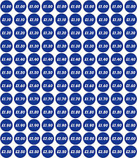 Price Sticker Sheet - x120 Ice Cream and Catering Van Any Colour Any Prices