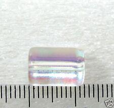 Glasperlen 16 Perlen  Zylinder  kristall AB  12x8mm