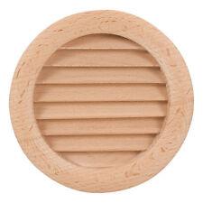Cercle bois air vent grille couverture 110mm (4,33 po) de ventilation en bois couvercle grill