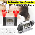 Projection Alarm Clock LCD Multi-function Time Temperature Display Snooze Clock