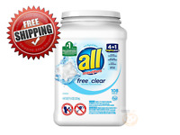 4 In 1 Hypoallergenic Mighty Pacs Laundry Detergent, Free And Clear (108 ct)