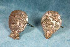Couple of Japanese cardholders. Brass. S.XIX Pareja de tarjeteros japoneses