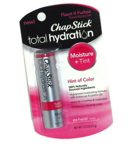 ChapStick Total Hydration Tinted Fuchsia 0.12oz - New & blister card sealed